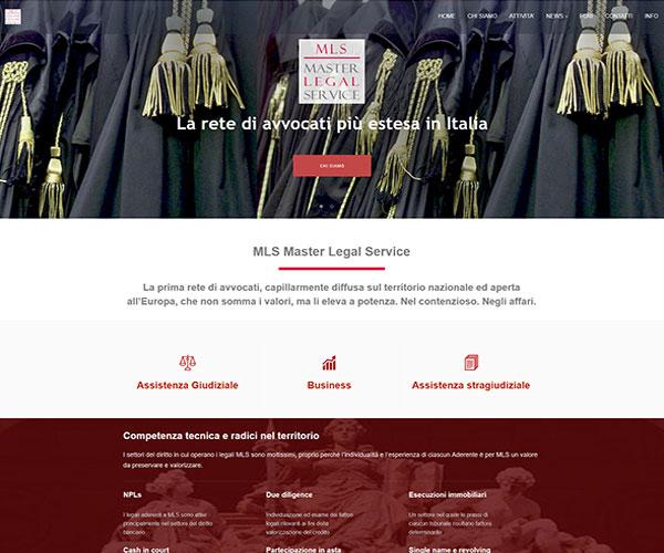 Master Legal Service Sito web per rete di avvocati